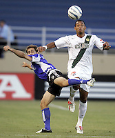 24 August 2005: Brian Mullan of the Earthquakes battles for the ball against Tyrone Marshall of the LA Galaxy during the first half of the game against the Earthquakes during Open Cup at Spartan Stadium in San Jose, California.   Galaxy is leading Earthquakes, 2-0 at halftime.