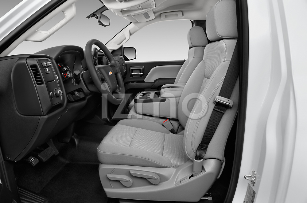 Front seat view of a 2018 Chevrolet Silverado 2500HD Work Truck Regular Cab  2 Door Pick Up front seat car photos