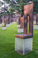 Oklahoma City National Memorial, Oklahoma, USA. Memorial Chairs.