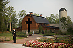 Thursday, May 31, Charlotte, North Carolina. Dedication of the new Billy Graham Library in Charlotte, North Carolina.. The facade of the new library, guarded by security until opened to the press.