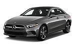 2019 Mercedes Benz A-Class-Sedan A-220 4 Door Sedan Angular Front stock photos of front three quarter view