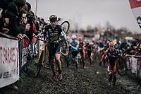 Toon Aerts (BEL/Telenet Fidea Lions) leading the way <br /> <br /> Elite Men's Race<br /> Belgian National CX Championschips<br /> Kruibeke 2019