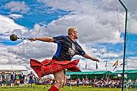 Weight for distance event at Aboyne Highland Games, Royal Deeside,Scotland<br /> dsider www.dsider.co.uk online magazine,
