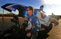 Jan 25, 2009; Chandler, AZ, USA; NHRA funny car driver Jack Beckman during testing at the National Time Trials at Firebird International Raceway. Mandatory Credit: Mark J. Rebilas-
