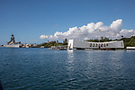 USS Arizona With The USS Missouri, Pearl Harbor
