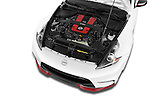 2015 Nissan 370Z NISMO 2 Door Coupe Engine high angle detail view