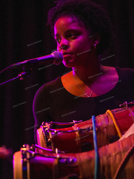 Magdelys Savigne, with Jane Bunnett and Maqueque at Performance Works on June 25, 2014 TD Vancouver International Jazz Festival