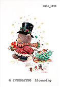 GIORDANO, CHRISTMAS ANIMALS, WEIHNACHTEN TIERE, NAVIDAD ANIMALES, Teddies, paintings+++++,USGI1800,#XA#
