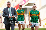 Kerry County Board Chairman Tim Murphy and Paudie Clifford, Kerry, after the Senior football All Ireland Semi-Final between Kerry and Tyrone at Croke park on Saturday.