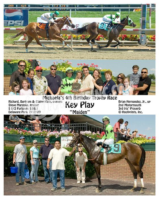 Key Play winning at Delaware Park on 7/12/09