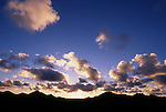 Afrika, ESP, Spain, Canary Islands, Lanzarote, Formation of clouds, Sunset, Dusk