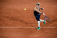 29th September 2020, Roland Garros, Paris, France; French Open tennis, Roland Garros 2020;  Laura SIEGEMUND GER plays a forehand during her match against Kristina MLADENOVIC FRA in the Philippe Chatrier court on the first round of the French Open