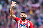 Diego Costa of Atletico de Madrid celebrates after scoring his goal during the La Liga 2017-18 match between Atletico de Madrid and Athletic de Bilbao at Wanda Metropolitano  on February 18 2018 in Madrid, Spain. Photo by Diego Souto / Power Sport Images