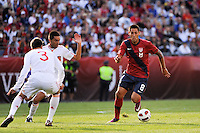 Clint Dempsey (8) of the United States. The men's national team of Spain (ESP) defeated the United States (USA) 4-0 during a International friendly at Gillette Stadium in Foxborough, MA, on June 04, 2011.