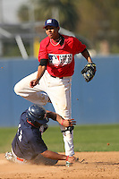 February 10 2008: Caleb Hatcher participates in a MLB pre draft workout for high school players at the Urban Youth Academy in Compton,CA.  Photo by Larry Goren/Four Seam Images