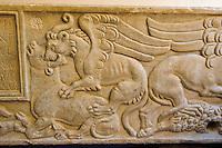 Sarkophag im Museum Museo Giovanni Antonio Sanna in Sassari,  Provinz Sassari, Nord - Sardinien, Italien