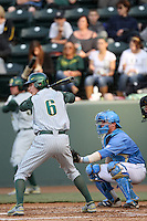 Scott Heineman #6 of the Oregon Ducks and brother Tyler Heineman #8 of the UCLA Bruins at Jackie Robinson Stadium on April 6, 2012 in Los Angeles,California. Oregon defeated UCLA 8-3.(Larry Goren/Four Seam Images)
