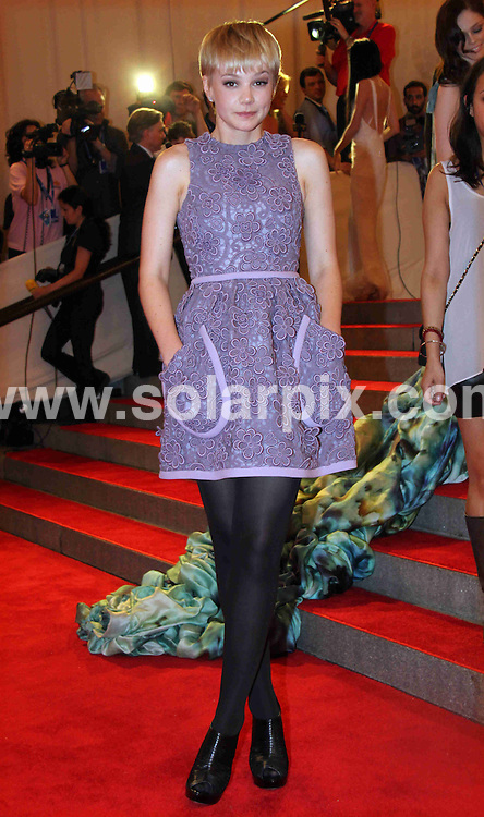 **ALL ROUND PICTURES FROM SOLARPIX.COM**.**SYNDICATION RIGHTS FOR UK, AUSTRALIA, DENMARK, PORTUGAL, S. AFRICA, SPAIN & DUBAI (U.A.E) & ASIA (EXCLUDING JAPAN) ONLY**.arrivals for the American Woman: Fashioning a National Identity Costume Institute Gala at the Metropolitan Museum of Art, New York City, NY, USA. 3 May 2010..This pic: Carey Mulligan..JOB REF: 11198 PHZ Wild1  DATE: 03_05_2010.**MUST CREDIT SOLARPIX.COM OR DOUBLE FEE WILL BE CHARGED**.**MUST NOTIFY SOLARPIX OF ONLINE USAGE**.**CALL US ON: +34 952 811 768 or LOW RATE FROM UK 0844 617 7637**