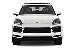 Car photography straight front view of a 2019 Porsche Cayenne Base 5 Door SUV