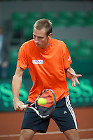 17-9-08, Netherlands, Apeldoorn, Tennis, Daviscup NL-Zuid Korea, Thiemo de Bakker tijdens de training