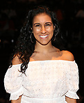 """Gabby Sorrentino during the Q & A before The Rockefeller Foundation and The Gilder Lehrman Institute of American History sponsored High School student #EduHam matinee performance of """"Hamilton"""" at the Richard Rodgers Theatre on 5/22/2019 in New York City."""