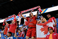 Harrison, NJ - Friday July 07, 2017: Canada fans during a 2017 CONCACAF Gold Cup Group A match between the men's national teams of French Guiana (GUF) and Canada (CAN) at Red Bull Arena.