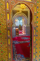 Fes, Morocco.  Looking into the Zaouia of Moulay Idris II.