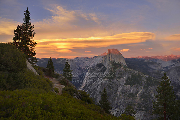Half Dome at sunset view from Glacier Point, Yosemite National Park, California, USA