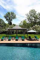 sunbeds at pool area