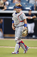 July 10, 2009:  Catcher Luis Flores of the Daytona Cubs during a game at George M. Steinbrenner Field in Tampa, FL.  Daytona is the Florida State League High-A affiliate of the Chicago Cubs.  Photo By Mike Janes/Four Seam Images