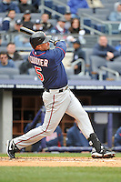 Apr 07, 2011; Bronx, NY, USA; Minnesota Twins outfielder Michael Cuddyer (5) during game against the New York Yankees at Yankee Stadium. Yankees defeated the Twins 4-3. Mandatory Credit: Tomasso De Rosa/ Four Seam Images