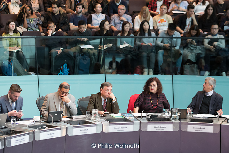 Mayor's Question Time.  London Assembly members question Sadiq Khan at City Hall, London.