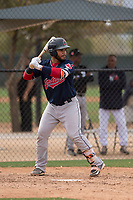 Cleveland Indians catcher Felix Fernandez (26) during a Minor League Spring Training game against the Chicago White Sox at Camelback Ranch on March 16, 2018 in Glendale, Arizona. (Zachary Lucy/Four Seam Images)