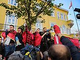 Studenten Proteste in Tirana, der Hauptstadt von Albanien vor dem Ministerium für Bildung. Die Studenten fordern Verbesserungen im Bildungssystem. / Students protest in Albanias capital for better Educationsystem in front of the ministry of education