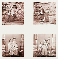 BNPS.co.uk (01202 558833)<br /> Pic: ForumAuctions/BNPS<br /> <br /> Pictured: There images of the fashions of the day<br /> <br /> Rarely seen 150 year old photos taken by one of the first British photographers to explore China have emerged for sale for £20,000.<br /> <br /> Scotsman John Thomson (1837-1921) travelled to the Far East in 1868 and established a studio in Hong Kong, using it as a base to explore remote parts of the vast country for the next four years, photographing landmarks, scenery and the native population.<br /> <br /> In many cases, he was the first Westerner the people he photographed had encountered.<br /> <br /> One striking image shows a prisoner in chains with a head poking through a board covered in Chinese symbols, perhaps listing his misdemeanours. In another, a man poses next to a giant camel statue in the grounds around the Ming tombs of the Forbidden City.<br /> <br /> Almost 100 of his photos feature in a rare first edition of 'Thomson Illustrations of China and Its People' (1873), which is going under the hammer with London-based Forum Auctions.