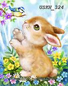 Kayomi, EASTER, OSTERN, PASCUA, paintings+++++,USKH324,#e#, EVERYDAY ,rabbits