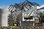 Vista de la fachada principal del  BioMuseo desde la Bahía de Panamá..Foto: Ramon Lepage / Istmophoto