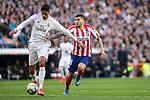Real Madrid´s Raphael Varane and Atletico de Madrid´s during La Liga match. February 1, 2020. <br /> (ALTERPHOTOS/David Jar)