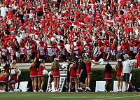 ATHENS, GA - SEPTEMBER 11: Georgia Bulldog fans cheer for their team during a game between University of Alabama Birmingham Blazers and University of Georgia Bulldogs at Sanford Stadium on September 11, 2021 in Athens, Georgia.