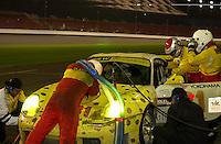 Drivers Cort Wagner and Matt Drendel exchange places in the G&W Motorsports Porsche GT3R #81..39th Rolex 24 at Daytona, 3/4 February,2001 Daytona International Speedway  Daytona Beach,Florida,USA.©A. E. DeDominici 2001 ..
