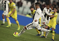 Calcio, Serie A: Juventus - Chievo Verona, Turin, Allianz Stadium, January 21, 2019.<br /> Juventus' Cristiano Ronaldo shoots and misses a penalty kick during the Italian Serie A football match between Juventus and Chievo Verona at Torino's Allianz stadium, January 21, 2019.<br /> UPDATE IMAGES PRESS/Isabella Bonotto