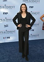 """LOS ANGELES, USA. September 02, 2021: Sarah Burgess at the premiere for FX's """"Impeachment: American Crime Story"""" at the Pacific Design Centre.<br /> Picture: Paul Smith/Featureflash"""