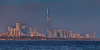 Toronto skyline view from the west, taken from Humber Park East.