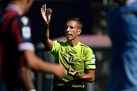 Referee Davide Massa reacts during the Serie A football match between Bologna FC and SS Lazio at Renato Dall'Ara stadium in Bologna (Italy), October 3rd, 2021. Photo Andrea Staccioli / Insidefoto