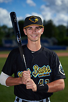 West Virginia Black Bears center fielder Jared Oliva (43) poses for a photo before a game against the Batavia Muckdogs on June 26, 2017 at Dwyer Stadium in Batavia, New York.  Batavia defeated West Virginia 1-0 in ten innings.  (Mike Janes/Four Seam Images)