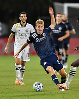 LAKE BUENA VISTA, FL - AUGUST 01: Keaton Parks #55 of New York City FC dribbles into pressure during a game between Portland Timbers and New York City FC at ESPN Wide World of Sports on August 01, 2020 in Lake Buena Vista, Florida.