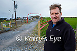 Mike O'Neill of Fenit, standing near the erected fencing on the Fenit to Tralee Greenway