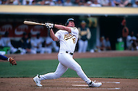 OAKLAND, CA - Jason Giambi of the Oakland Athletics in action at the Oakland Coliseum in Oakland, CA in 2000. Photo by Brad Mangin