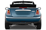 Straight rear view of a 2010 Mini Cooper Convertible
