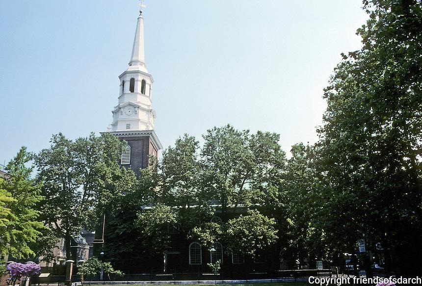 Philadelphia: Christ Church 1727-44.  The Anglicans of Philadelphia modeled it on Wren's London Churches.